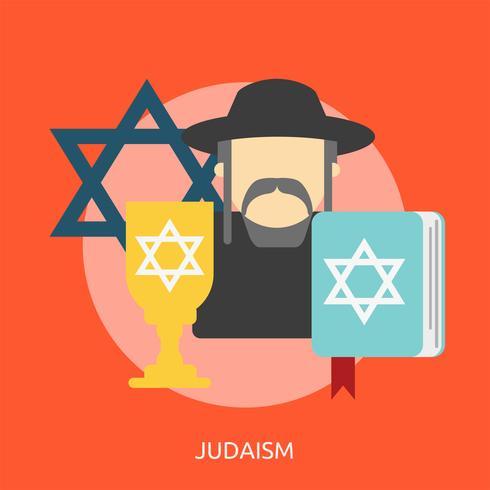 Judaïsme Illustration conceptuelle Design vecteur