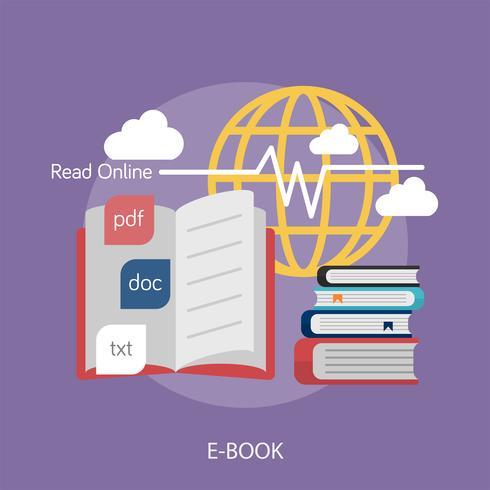 Livre électronique Illustration conceptuelle Design vecteur