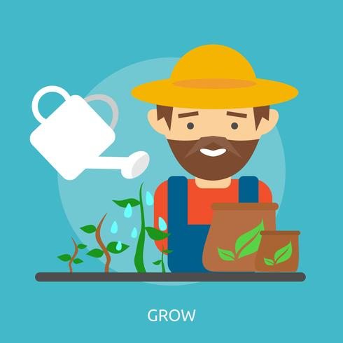 Grow Illustration conceptuelle Design vecteur
