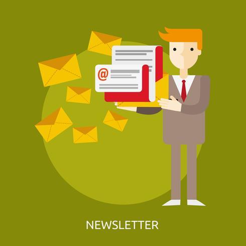 Newsletter Illustration conceptuelle Design vecteur