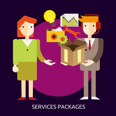 Services Package Illustration conceptuelle Design vecteur
