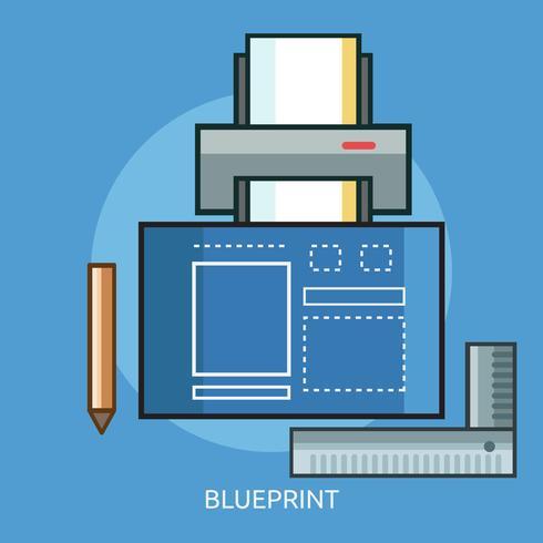 blueprint conceptual illustration design vecteur