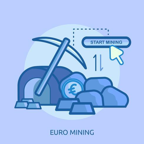 Bitcoin minière conceptuel illustration design vecteur