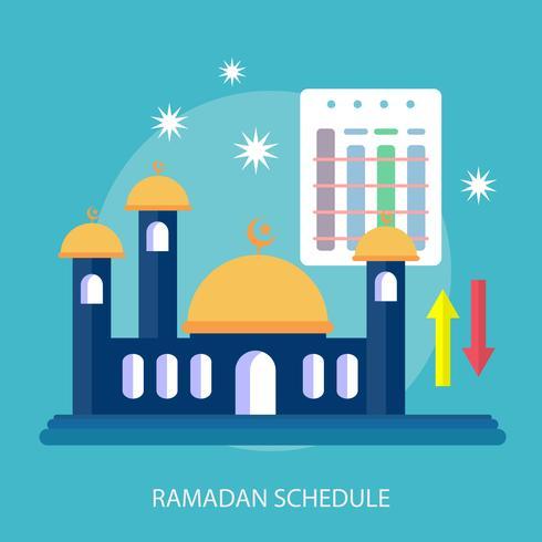 Calendrier du Ramadhan Illustration conceptuelle Conception vecteur