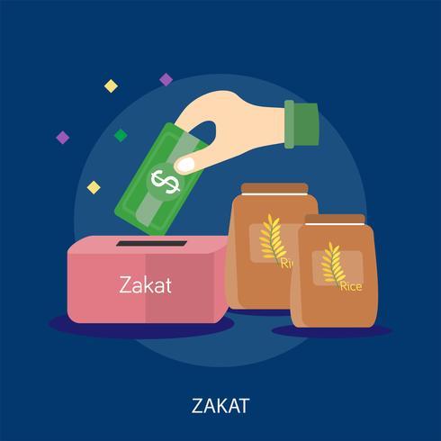 Zakat Conceptual Design Illustration conceptuelle Design vecteur