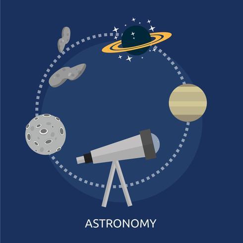 Astronomie Illustration conceptuelle Design vecteur