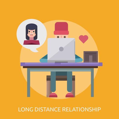Relation longue distance Illustration conceptuelle Conception vecteur