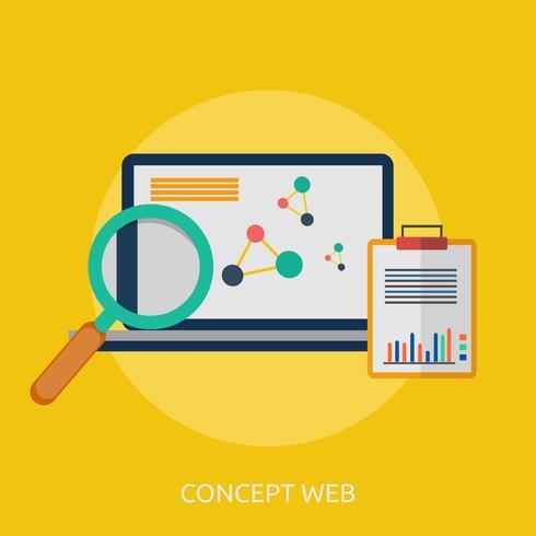 Concept Web Illustration conceptuelle Design vecteur