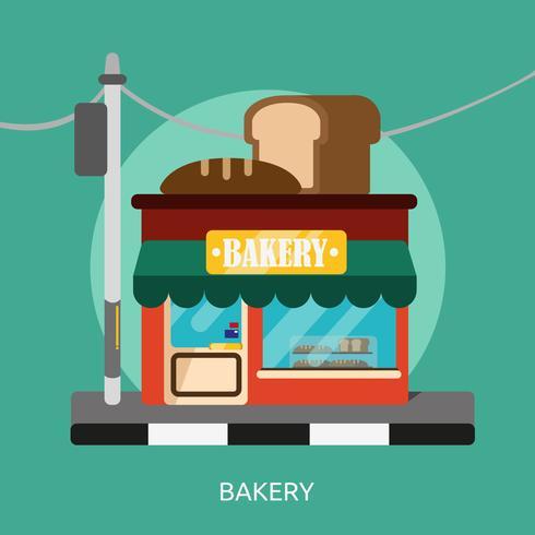 Illustration conceptuelle boulangerie Design vecteur