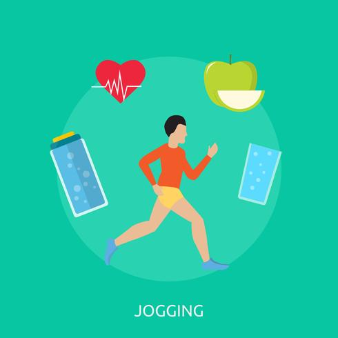 Jogging Illustration conceptuelle Design vecteur