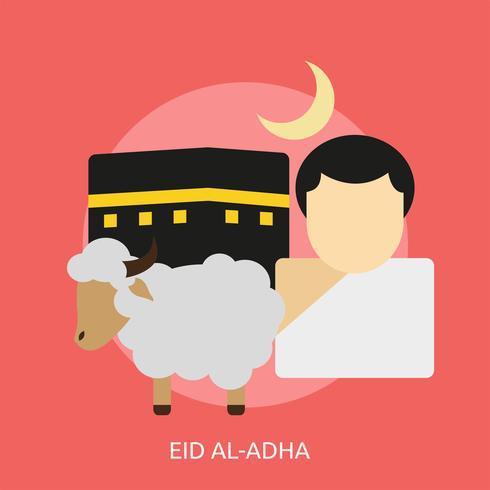Eid Al-Adha Illustration conceptuelle Conception vecteur