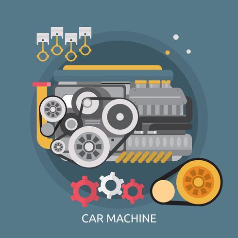Illustration conceptuelle de machine de voiture vecteur