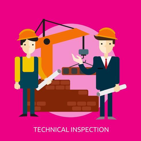 Inspection technique Illustration conceptuelle Conception vecteur