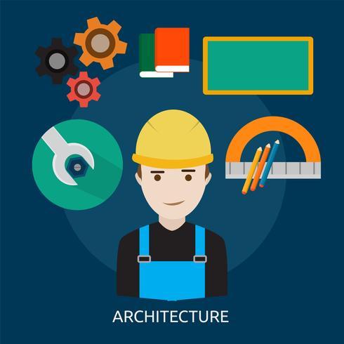 Architecture Illustration conceptuelle Design vecteur