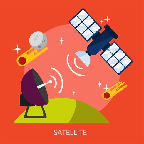 Satellite Illustration conceptuelle Design vecteur