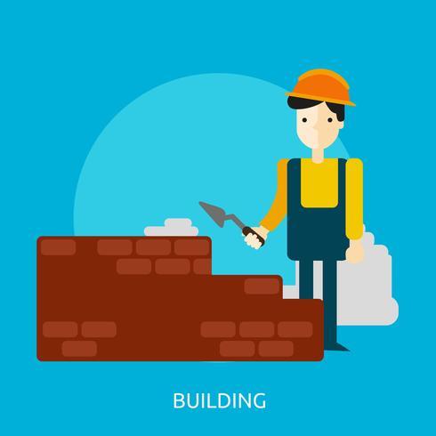 Bâtiment conceptuel illustration design vecteur