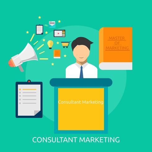Consultant Marketing Illustration conceptuelle Design vecteur