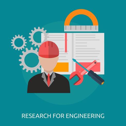 Recherche Ingénierie Illustration conceptuelle Conception vecteur