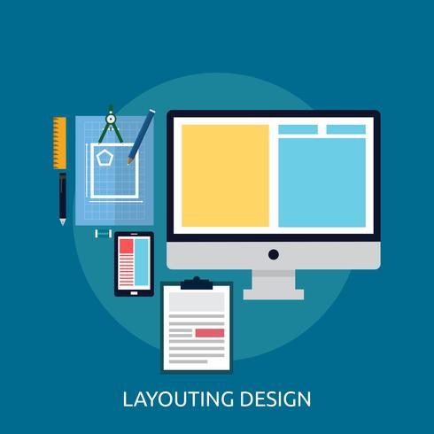 Illustration de mise en page Design conceptuel vecteur