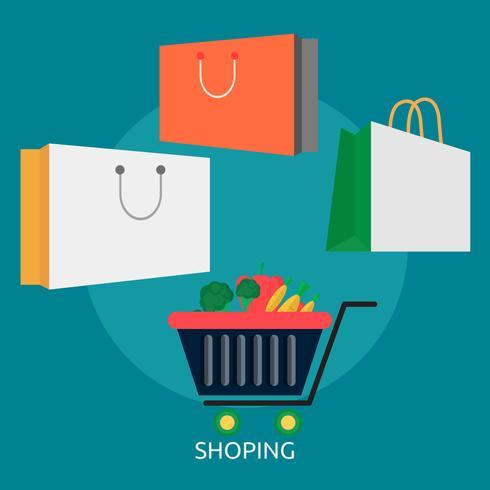 Shoping Illustration conceptuelle Design vecteur