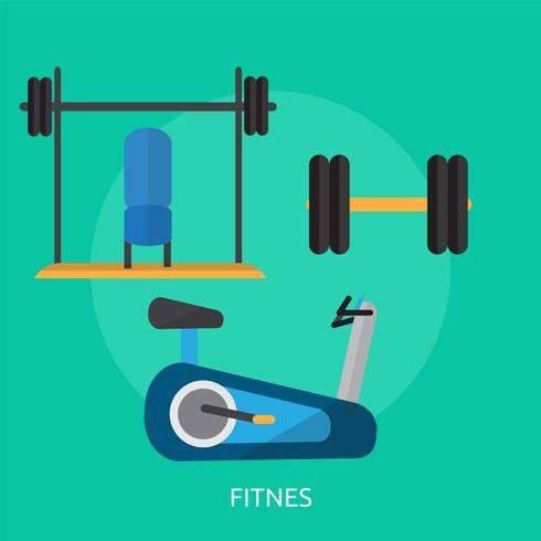 Fitnes Illustration conceptuelle Design vecteur