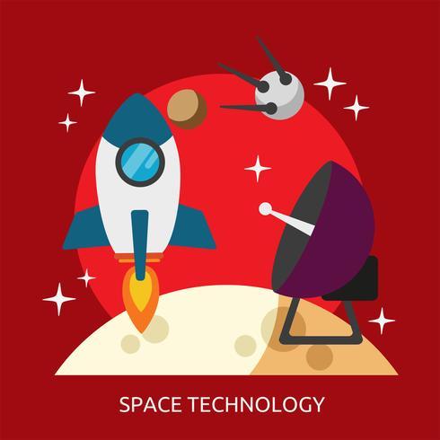 Technologie spatiale Illustration conceptuelle Conception vecteur