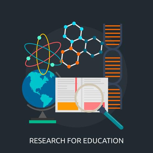 Recherche Education Conceptuel Illustration Design vecteur
