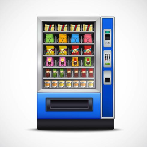 Distributeur automatique de collations réalistes vecteur