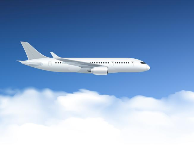 Affiche d'avion dans l'air vecteur