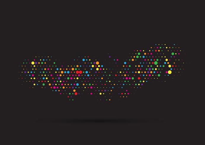 Conception de points colorés vecteur