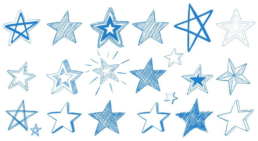 Différents modèles d'étoiles bleues vecteur