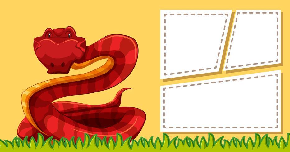 Serpent sur le modèle de note vecteur