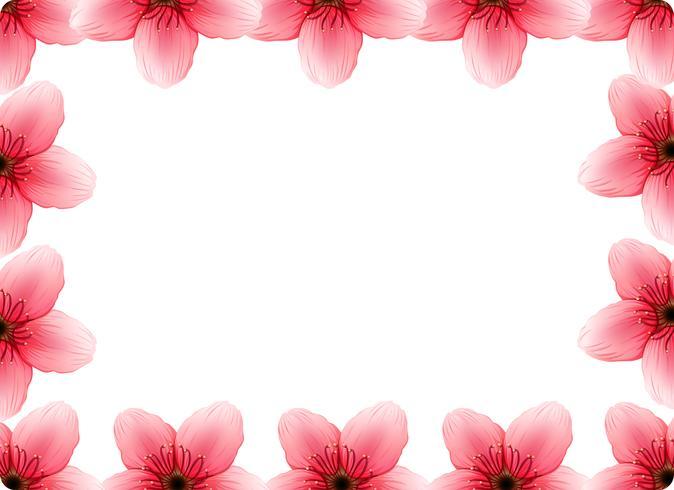 Un cadre de fleurs de cerisier vecteur