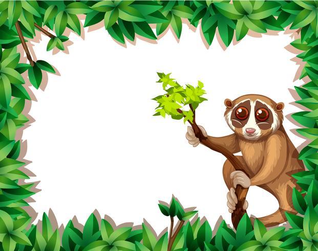 Lemur On Branch Carte vecteur