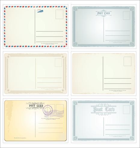 Vecteur de carte postale