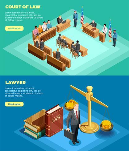 Bannières du tribunal vecteur