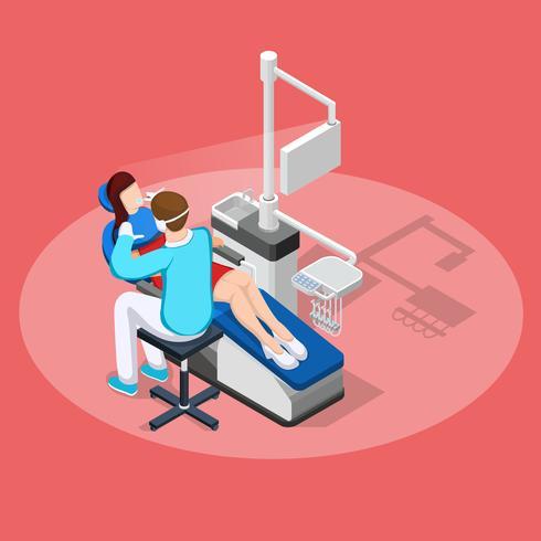 Composition isométrique d'arrêt dentaire vecteur