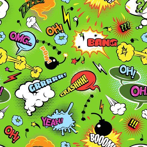 Arrière-plan transparent moderne de bandes dessinées colorées vecteur