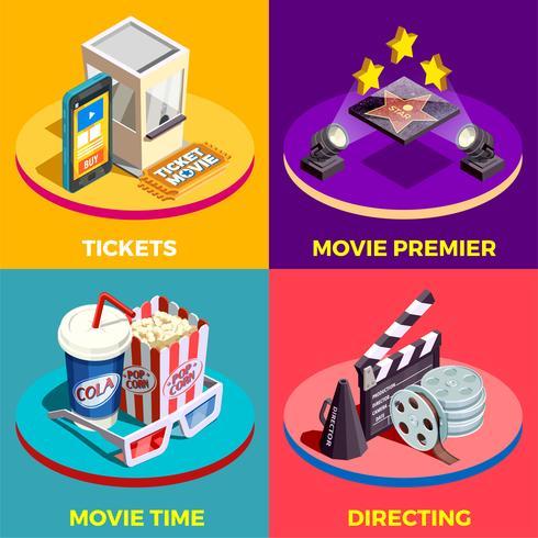 concept de design de temps de film vecteur