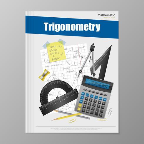 Modèle de Flyer de trigonométrie vecteur