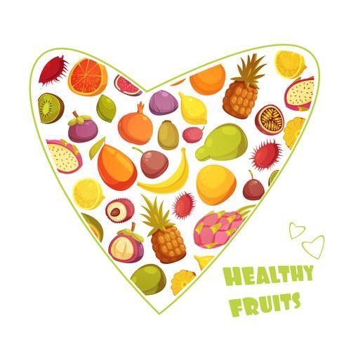 Fruits Style rétro Style de la publicité vecteur