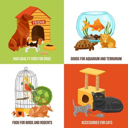 Home Pets 2x2 Design Concept vecteur