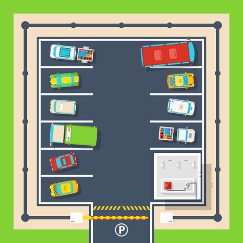 Affiche de stationnement vue de dessus vecteur