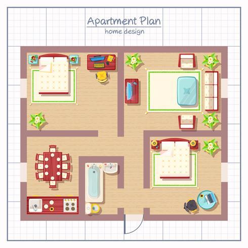 Illustration de conception de maison vecteur