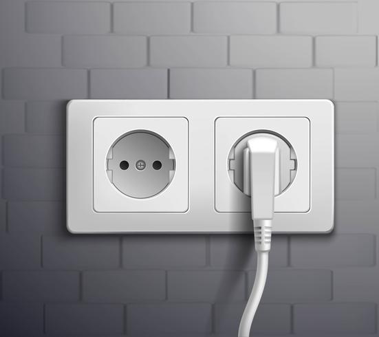 Prise électrique Cabel Plugged vecteur