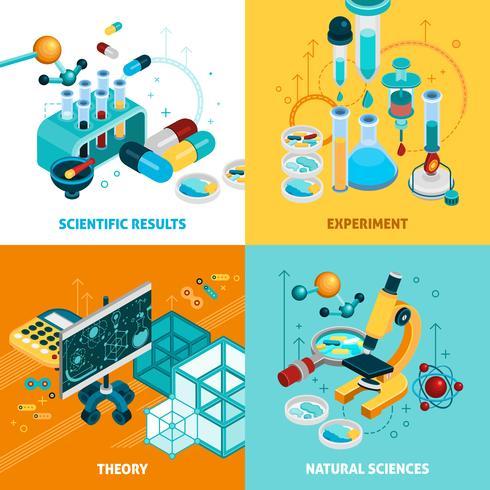 Science Concept Icons Set vecteur