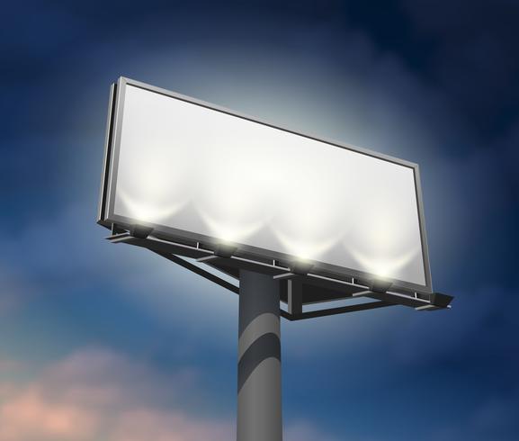 Image de nuit éclairée Billboard vecteur