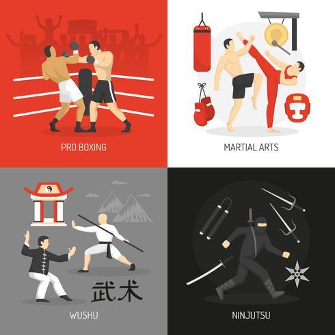 Concept d'arts martiaux vecteur