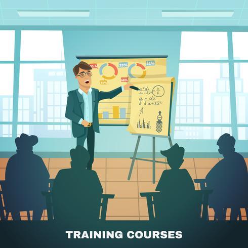 Affiche de formation sur les cours de formation scolaire vecteur