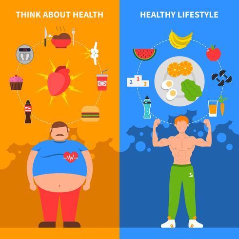 Bannières verticales Diet vecteur